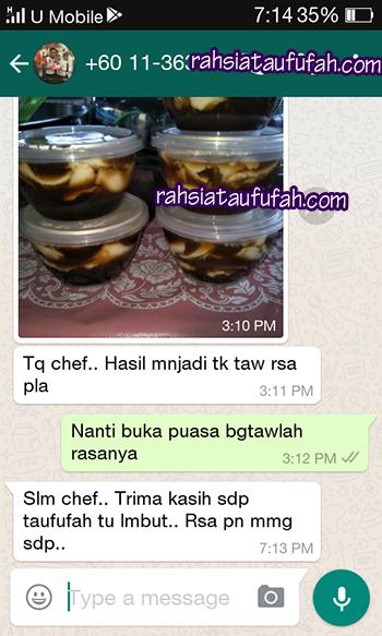resepi taufufah testimonial